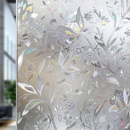 $enCountryForm.capitalKeyWord Australia - 90 * 200 Cm Color Tulip Frosted Glass Window Film; Static Living Room Bedroom Bathroom Privacy Protection Decorative Stickers T190704