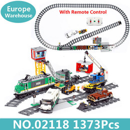 technic blocks Australia - King Bricks 02009 02118 Cargo Train Building Blocks 60198 60098 City Train Technic Series Heavy Haul Train Toys Children Gift SH190910