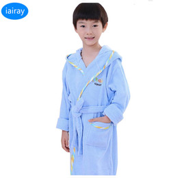Robes foR kids online shopping - boys bathrobe kids hooded poncho towel pink bathrobe for girls roupao blue bath robe green loose cotton pajamas baby bath robes SH190912