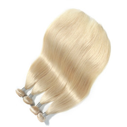 Platinum Product online shopping - The New Product Platinum Blonde Color Peruvian Straight Hair Weave Remy Human Hair Bundles Inch Double Weft Hair Extensions