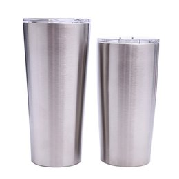 Double steel beer mug online shopping - 24oz oz tumblers Coffee Mug Stainless Steel Double Wall Vacuum Insulated Beer Cups Drinkware Vacuum Mugs with clear lids MMA1906