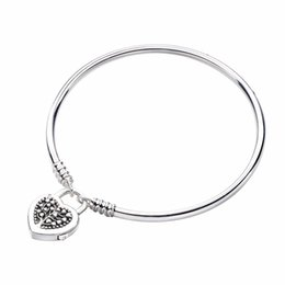 charm jewelry limited Australia - Genuine 925 Sterling Silver Limited Edition Flourishing Heart Padlock Bangle Fit Women Bead Charm Fashion Jewelry