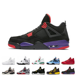 $enCountryForm.capitalKeyWord NZ - Hot Quality 4S Bred What The Basketball Shoes 30th Anniversary Laser Silt Red Splatter Singles Day Lightning Pure Money Oreo Men 4 Sneakers
