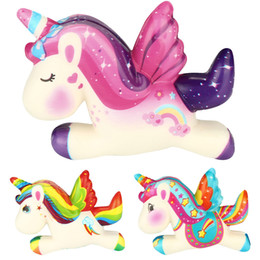 $enCountryForm.capitalKeyWord NZ - Squishy Pegasus Unicorn Anti-stress Toys Children Squish Stress Relief Novelty Fun Practical Jokes Squeeze Toy Gift Phone Strap