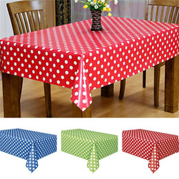 red event decor 2019 - Waterproof Plastic Tablecovers Table Cloth Cover Party Catering Events Tableware 2017 New Tablecloth Table covers Party