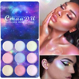 eye shadow palette contour makeup Australia - Top Cmaadu 9 Color Eyeshadow Palettes Highlighter Face Makeup Eyeshadow Brighten Cover Contour Eye Cosmetic Palette Eye Shadow DHL Shipping