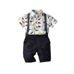 dd06b8c26f326 Summer new dinosaur Baby Suit Boys Suits newborn baby boy clothes Infant  Outfits Boys Clothing Sets baby infant boy designer clothes A5176