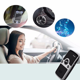 free car kit Australia - Siparnuo Solar Power Aux Bluetooth Car Kit Sun Visor Hands Free Speakerphone with USB Bluetooth Handsfree Carkit