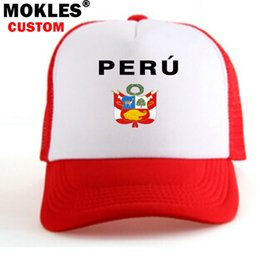 PERÚ masculino joven libre nombre personalizado foto número chico sombrero nación  bandera pe república peruano español país universidad gorra de béisbol 84e066b1753
