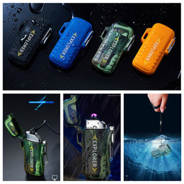 $enCountryForm.capitalKeyWord Australia - Colorful Intelligent Waterproof USB Charging Double ARC Lighter Portable Sling Rope Innovative Design For Cigarette Smoking Pipe Tool DHL