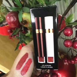 Plum Lip Color Australia - HOT 2pcs in 1 Tom & Ford Matte Liquid Lipstick Rouge a levre Lip Color Gloss Maquillaje Set