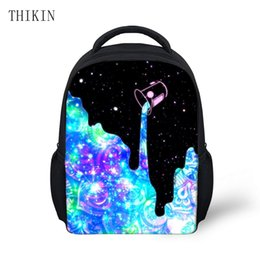 Wholesale THIKIN Stylish Backpack Galaxy Pouring Milk Printing Boys Backpacks for Kindergarten Girls Bookbag School Suppliers Rucksack