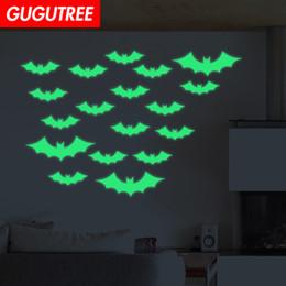 $enCountryForm.capitalKeyWord NZ - Decorate Home Diy Hallowmas bat cartoon art glow wall sticker decoration Decals mural painting Removable Decor Wallpaper G-511