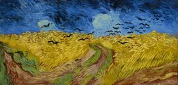 van gogh prints canvas NZ - Vincent Van Gogh Wheatfield with crows Wall Art Home Decor Handpainted &HD Print Oil painting On Canvas Wall Art Canvas Pictures 190917