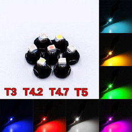 led indicator lights blue Canada - 1Piece T3 T4.2 T4.7 T5 Car LED Instrument Light 1 SMD 2835 12V Wedge Dashboard Warning Indicator Lamp Instrument Cluster Light
