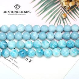 $enCountryForm.capitalKeyWord Australia - Larimar Gemstone Round Loose Beads Matte Size 6 8 10 12mm Immation Ocean Sea Stone Bracelet Necklace For Jewelry Making MX190801