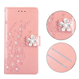 white diamond galaxy s5 case Australia - Luxury Bling Crystal Diamond Phone Case For Samsung galaxy S5 S6 S7 Edge A3 A5 A7 A8 2017 2018 Cover Leather Flip Wallet