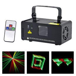 Mini Laser Stage Lighting Remote Australia - AUCD 3D Effect 8 CH DMX 512 Mini IR Remote 250mW RGY Laser DPSS Scanner Lights DJ Show LED Projector Stage Lighting TDM-RGY250