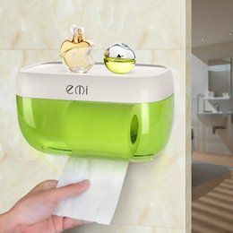 $enCountryForm.capitalKeyWord Australia - Waterproof Toilet Paper Holders Strong Suction Cup Tissue Roll Paper Holder Box Wall Mounted Hanger Bathroom Kitchen Furniture