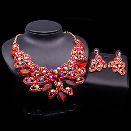 china shipping costume Australia - Yulaili Hot Sale African Women Costume Jewelry Sets Multicolor Crystal Necklace Earrings for Women Wedding Jewellery Free Shipping