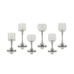 $enCountryForm.capitalKeyWord NZ - Crystal Candlesticks Metal Candle Bowl Holders Home Decoration Anniversary Mother's Day Gifts Party Glass Table Centerpieces