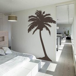 Large Metal Wall Art Australia - decorative metal Free Shipping Large Palm tree wall sticker , living room tropical wall art house decoration tall palm tree