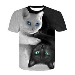 eb98eec26 good quality 2019 New T-shirt Men women 3d Print Meow Black White Cat Hip  Hop Cartoon Tshirts Summer Tops Tees Fashion 3d Shirts
