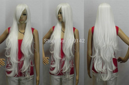 $enCountryForm.capitalKeyWord Australia - Fantastic White Long Curly Oblique Bangs Synthesis Cosplay Women Hair Full Wig made Brazilian no lace front wigs