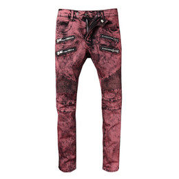 $enCountryForm.capitalKeyWord UK - 2019 Fashion Vintage Mens Ripped Jeans Pants Slim Fit Distressed Hip Hop Denim COOL Male Novelty Streetwear Jean Trousers Hot Sale