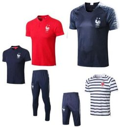 df2013f31 French Jogging pants kits! Maillot de Foot football training polo MBAPPE  equipe de france 2018 2 etoiles mbappe Soccer Jerseys om tee shirt