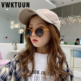 sun sunglasses korean 2020 - VWKTUUN Sunglasses Girls Boys 2020 Korean Sun glasses Childlren UV400 Sport Eyewear New Sunglass Child Points Round Glas