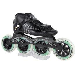 Pattini ad alta resistenza in fibra di vetro per adulti e bambini per pattini a rotelle a velocità professionale Pattini a rotelle in linea per uomo da uomo SIZE EU30-44 in Offerta