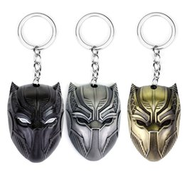 $enCountryForm.capitalKeyWord UK - MQCHUN DC Marvel Comics Black Panther Keychain For Men Superhero Captain America Llavero Metal Key Chain Jewelry-50