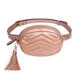 $enCountryForm.capitalKeyWord Australia - Brand Women Belt Bags Solid Pu Leather Waist Packs Ladies Tassel Fanny Pack Female Travel Phone Wallet Belt Waist Bag Box