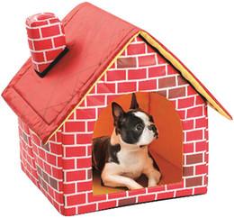 $enCountryForm.capitalKeyWord Australia - Red Brick Pattern Chimney Pet House Classic Dog Kennel Cat Nest Creative Puppy Teddy Kitten Sleeping Bed