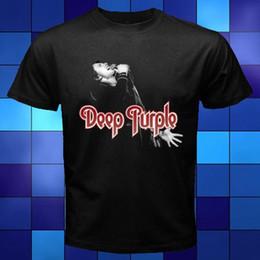 Hot nuova estate di modo delle magliette 2017 Deep Purple Rock Band Black Legend T-shirt Taglia S M L XL 2XL 3XL in Offerta