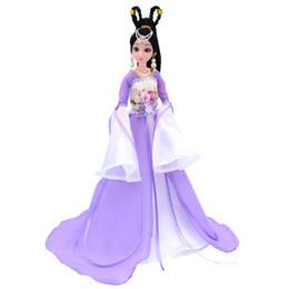 China Boneca Barbie Terno Traje Antigo Corpo Violeta Fada Princesa Menina Brinquedos Boneca