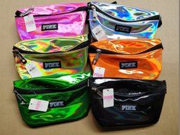 Chinese  Pink Waist Bag laser Beach Travel Pack Fanny love pink Transparent handbag Fashion Girls Purse Belt Bags Outdoor Cosmetic Bags wallets 2018 manufacturers