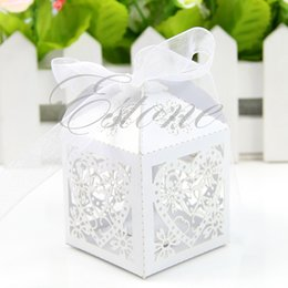 $enCountryForm.capitalKeyWord Australia - 50 PCS Love Heart Laser Cut Candy Gift Boxes With Ribbon Wedding Party Favor Y1QB