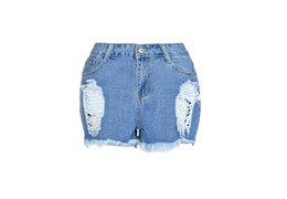 jeans shorts girls UK - Women's Mid Rise Shorts Frayed Raw Hem Ripped Distressed Denim Shorts Skinny Girl Jeans