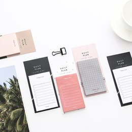 Wholesale 50 Sheets Creative Memo Pad Study and Work Plan Paper Simple Sticky Notes Office School Supplies Blank White Labels Stationery