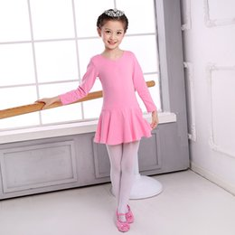 red long dancing dress Australia - Ballet Dancing Dress Women's Long Sleeve Spring Summer Girls Exercise Clothing CHILDREN'S One-piece Performance Clothing Childre