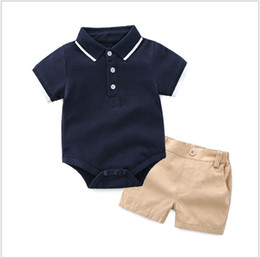 $enCountryForm.capitalKeyWord Australia - Summer Baby Boys Clothing Sets Toddler Kids Short Sleeve Polo Shirt Rompers+Shorts 2pcs Set Infant Suits Children Outfits