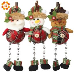 $enCountryForm.capitalKeyWord Australia - 1PC Hanging Christmas Santa Claus&Snowman&Deer Beading Pendants Xmas Tree Ornaments DIY Crafts Home Christmas Party Decoration
