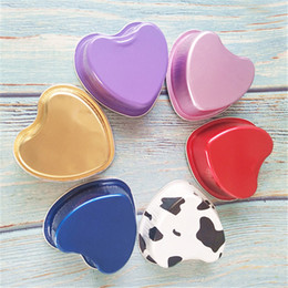 cups shape cake Australia - Heart Shaped Aluminum Foil Cake Box with Lid Pudding Cheese Dessert Packaging Cup for Baking