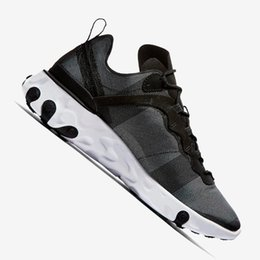 Comfortable Shoes Breathable Fabric Australia - Comfortable Element 55 Taped Seams Stretch Women Men Running Sneakers UndercoverElement 55 Taped Element Yarn Breathable Athletic Shoes