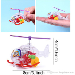 clockwork wind up toys 2020 - Mini Transparent Aircraft Toys Airplane Clockwork Toys Children Educational Wind-Up Toys Aircraft Plastic Kids Birthday