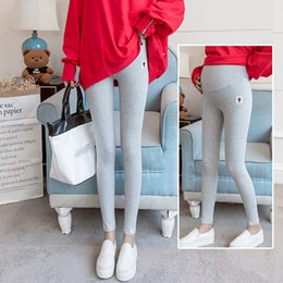 plus size flower leggings NZ - Plus Size Pregnant Women Leggings Maternity Pants Thin Style Wear Clothes Pregnant Women Trousers Spring And Autumn