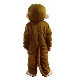 Wholesale holiday mascot costumes for sale – halloween 2020 Factory New style holiday costume Curious George mascot costume fancy party dress suit carnival costume with