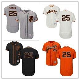 d2e69174893 San Francisco 2019 Men s Women s Youth Giants 25 Barry Bonds Majestic Black  Alternate Authentic Flex Base Custom Baseball Jerseys
